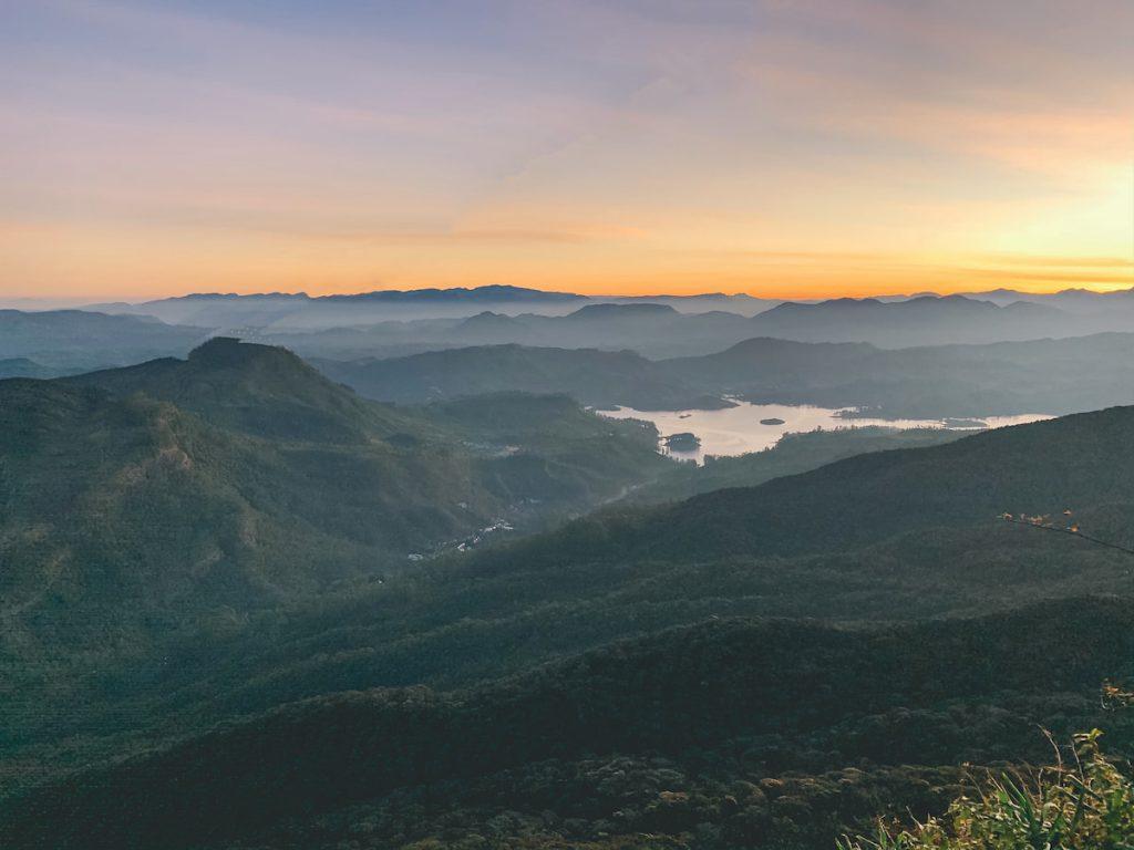 Adam's peak Sri Lanka paysage