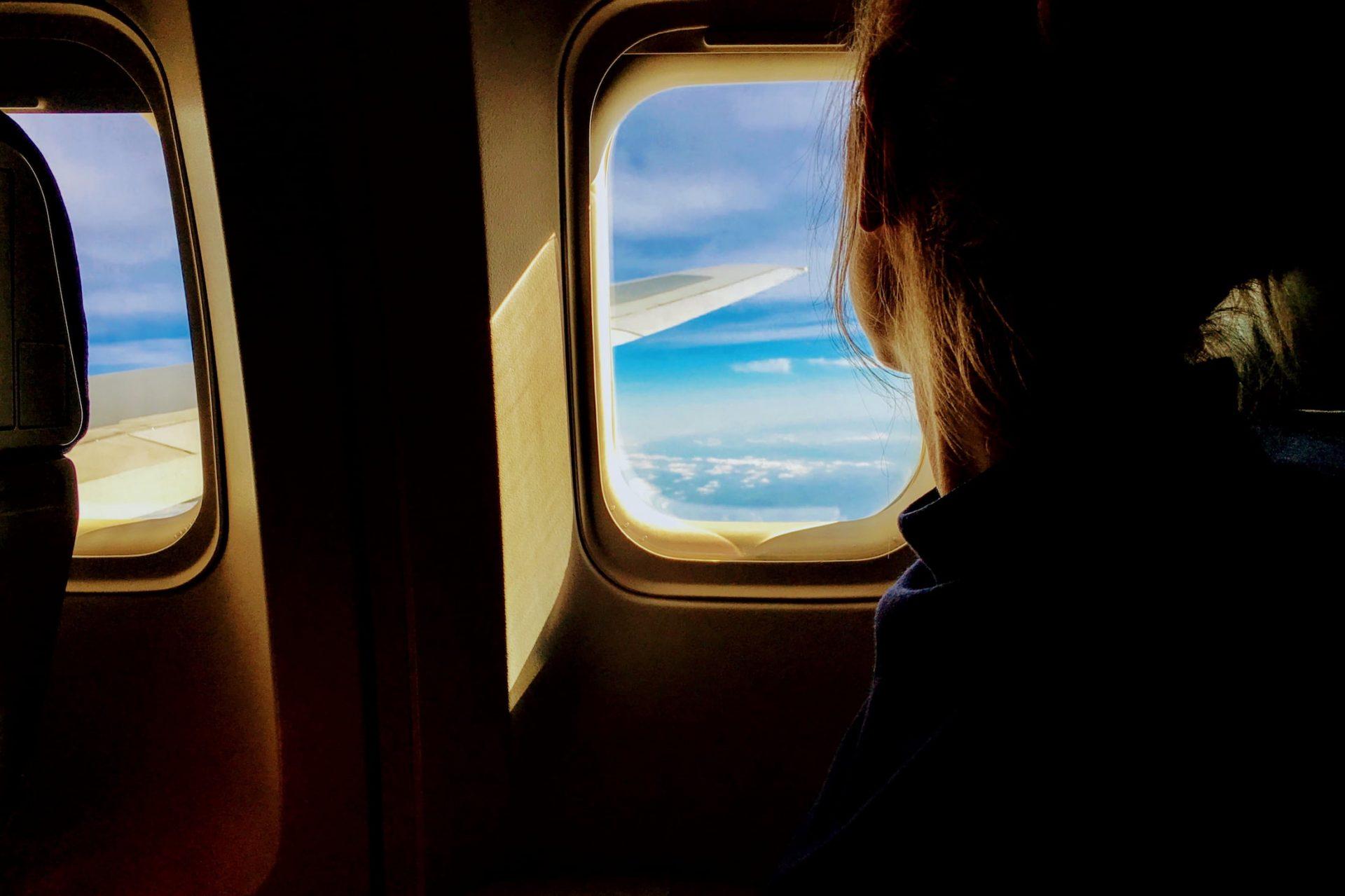 fenêtre de l'avion