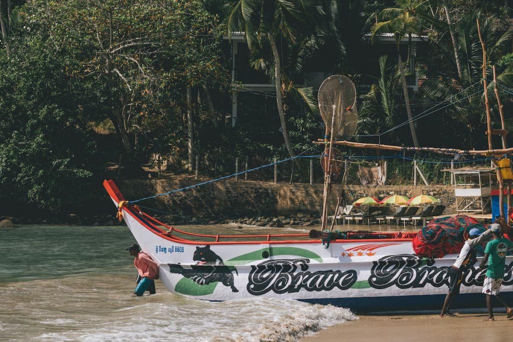 pêcheurs hiriketiya Sri Lanka