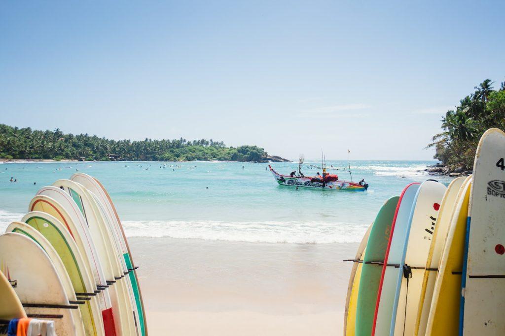 surf hiriketiya plage Sri Lanka