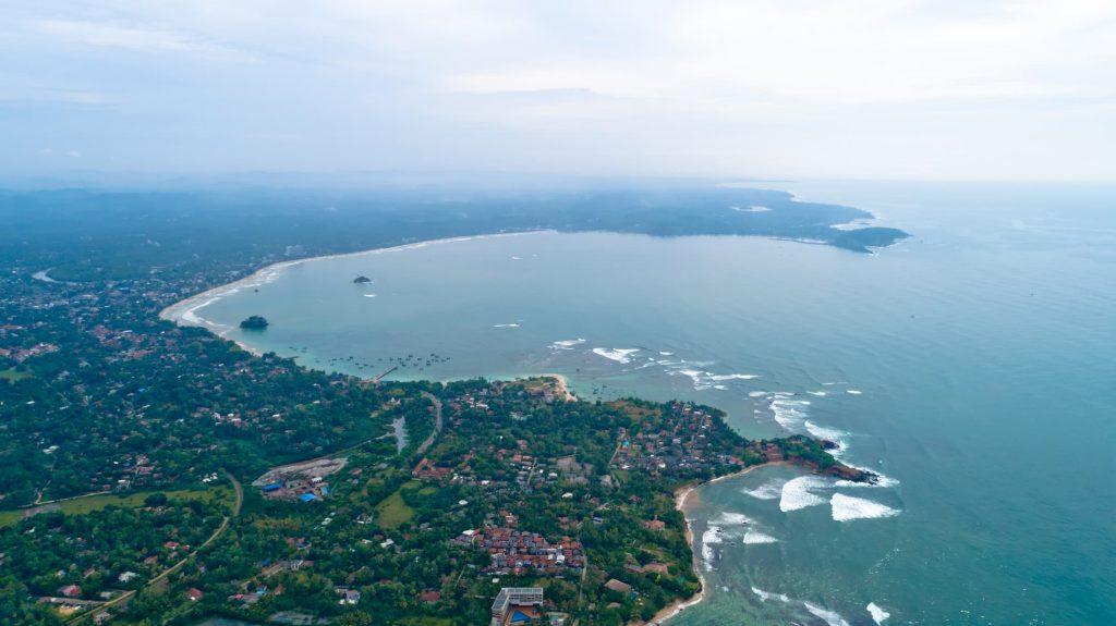 vue panoramique weligama