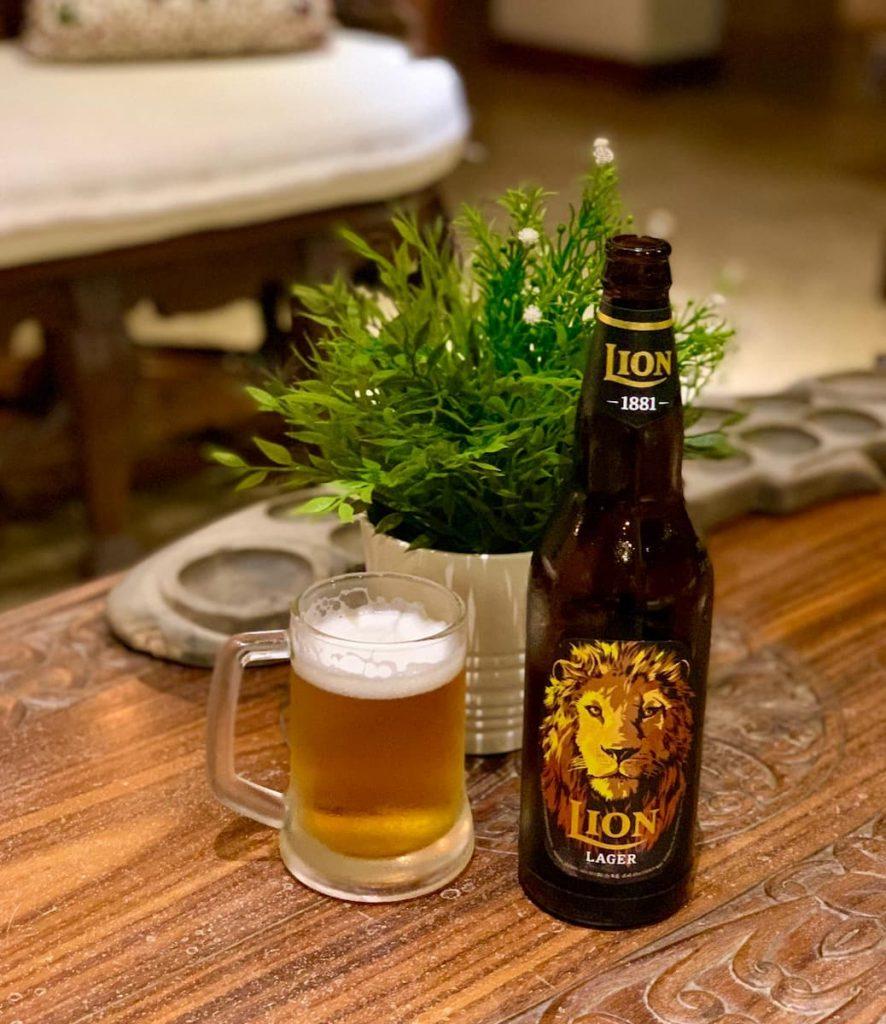 bière lion au Sri Lanka