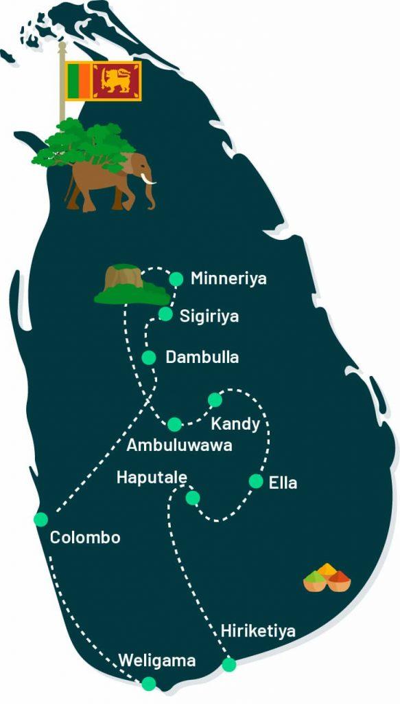 itinéraire 8 jours Sri Lanka